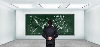 Carta de la crisis Imagen de archivo