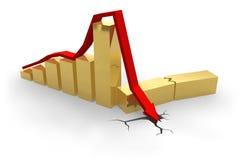 Carta de la crisis stock de ilustración