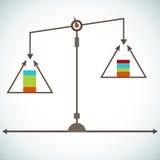 Carta de la escala stock de ilustración