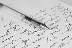 Carta de la escritura Imagen de archivo libre de regalías