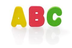 Carta de la esponja del ABC en blanco Imagen de archivo