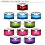 Carta de la gestión de negocio global Imagenes de archivo