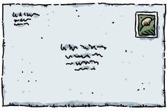 Carta de la historieta ilustración del vector