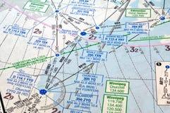 Carta de la navegación aérea Fotografía de archivo libre de regalías
