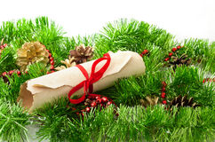 Carta de la Navidad Imagen de archivo