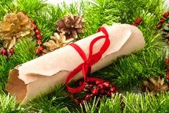 Carta de la Navidad Imagen de archivo libre de regalías