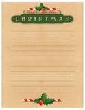 Carta de la Navidad Fotografía de archivo