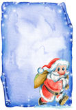 Carta de la Navidad con Santa Imagenes de archivo