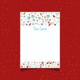 Carta de la Navidad a Santa stock de ilustración
