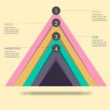 Carta de la pirámide Fotografía de archivo