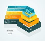 Carta de la pirámide del vector para el diseño del infographics Imagen de archivo libre de regalías