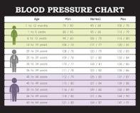 Carta de la presión arterial Imagen de archivo libre de regalías