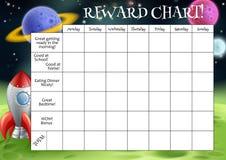 Carta de la recompensa o de la tarea de Childs Foto de archivo libre de regalías