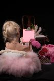 Carta de la tarjeta del día de San Valentín Fotos de archivo libres de regalías