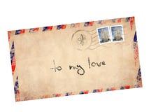 Carta de la vendimia Foto de archivo libre de regalías