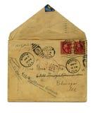 Carta de la vendimia fotografía de archivo libre de regalías