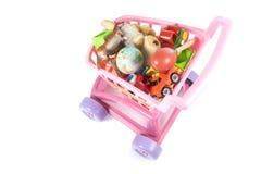 Carta de las compras del juguete Imagen de archivo libre de regalías