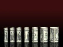 Carta de las cuentas de dólar Imágenes de archivo libres de regalías