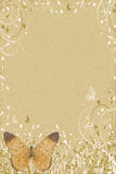 Carta de las mariposas de Browm Fotografía de archivo libre de regalías