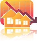 Carta de las propiedades inmobiliarias abajo Imagenes de archivo