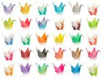 Carta de los pájaros de Origami Fotos de archivo