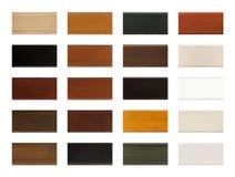 Carta de madera de la muestra de la muestra del color aislada en blanco con la trayectoria de recortes Fotografía de archivo libre de regalías