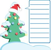 Carta de Navidad Fotos de archivo libres de regalías