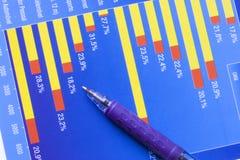 Carta de negócio Fotografia de Stock Royalty Free