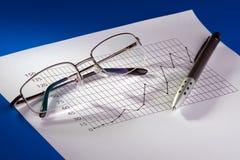 Carta de negócio Fotos de Stock