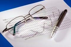 Carta de negócio Fotografia de Stock