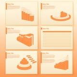 Carta de negócio Columnar Molde da programação dos indicadores do crescimento Colunas dos dados da cor Fotografia de Stock