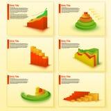 Carta de negócio Columnar Molde da programação dos indicadores do crescimento Colunas dos dados da cor Foto de Stock Royalty Free