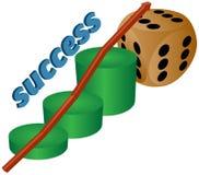 Carta de negócio do sucesso Fotografia de Stock Royalty Free