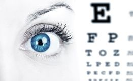 Carta de ojo Imagen de archivo libre de regalías