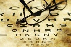 Carta de olho Imagem de Stock
