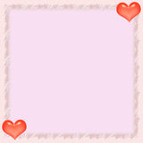 Carta de papel de la tarjeta del día de San Valentín Fotos de archivo libres de regalías