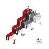 Carta de proceso de los datos de negocio Elementos abstractos del gráfico, diagrama con los iconos Diseño del infographics del ne stock de ilustración