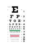 Carta de prueba del ojo Fotos de archivo