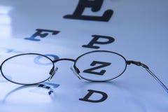 Carta de prueba del ojo Fotografía de archivo libre de regalías