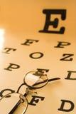 Carta de prueba del ojo Imágenes de archivo libres de regalías