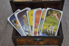 Carta de tarot Foto de archivo libre de regalías