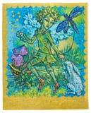 Carta de tarot - alegría Foto de archivo