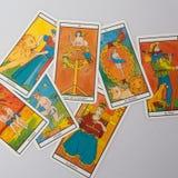 Carta de tarot de la adivinación Imagenes de archivo
