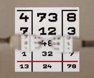 Carta de teste do olho Imagem de Stock