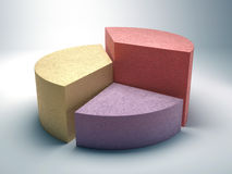 Carta de torta abstrata do negócio feita do concreto colorido Imagem de Stock Royalty Free