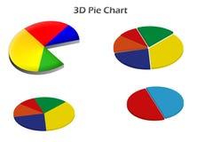carta de torta 3D Fotografia de Stock Royalty Free