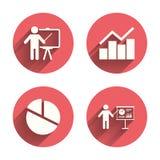 Carta de torta do gráfico do diagrama Quadro de avisos da apresentação Fotos de Stock Royalty Free