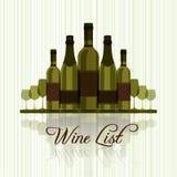 Carta de vinos para los restaurantes Fotografía de archivo