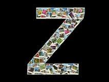 Carta de Z - collage de las fotos del recorrido Imagenes de archivo