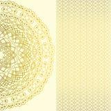 Carta decorata d'annata nello stile orientale Decorazione floreale orientale Islam, arabo, motivi indiani royalty illustrazione gratis